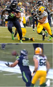 Lynch and Miller vs Packers