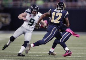 Stedman Bailey returns a punt 90 yards on a trick play vs. Jon Ryan and the Seahawks