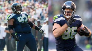 Brandon Mebane and Zach Miller (Seahawks.com)