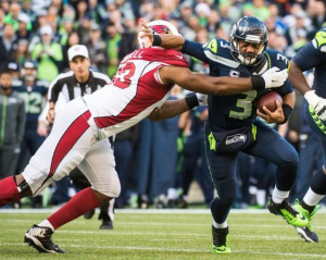 Calais Campbell gets one of his three sacks of Russell Wilson (Seahawks.com)