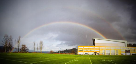 Double rainbow at Seahawks headquarters