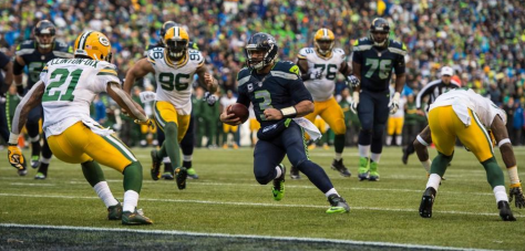 Russell Wilson runs for a TD late in the fourth quarter vs. the Packers (Seahawks.com)
