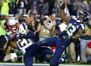 Malcolm Butler secures a game-sealing interception on a pass intended for Ricardo Lockette in the Super Bowl