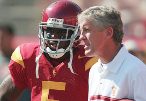 Reggie Bush and Pete Carroll