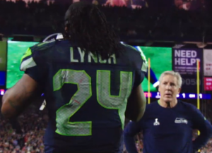Super Bowl Carroll dumbfounded as Lynch walks past
