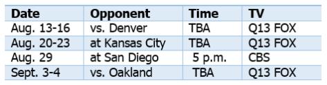 2015 preseason schedule