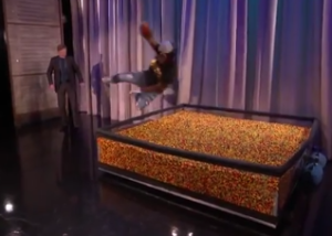 Lynch jumps into Skittles Zone