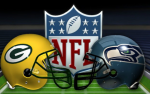 Seahawks at Packers helmets
