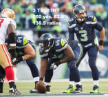 Wilson's shoes vs. 49ers stats